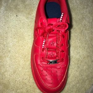 Red Nike Air Force 1's